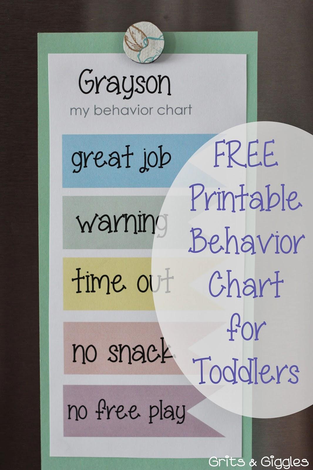 Grits Amp Giggles Toddler Behavior Charts
