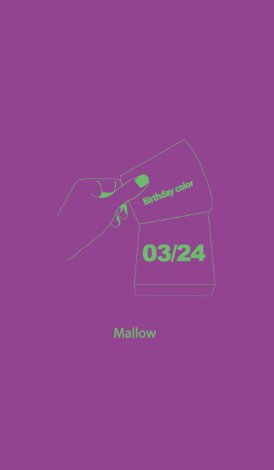 Birthday color March 24 simple: