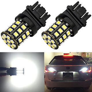 ENDPAGE 3157 LED Bulb White 6000K 1000 Lumens Super Bright 12-24V Non-Polarity, 2-pack, Replacement for 3156 3057 3056 and Fit Backup Reverse Lights, Tail Brake Lights, Turn Signal Lights