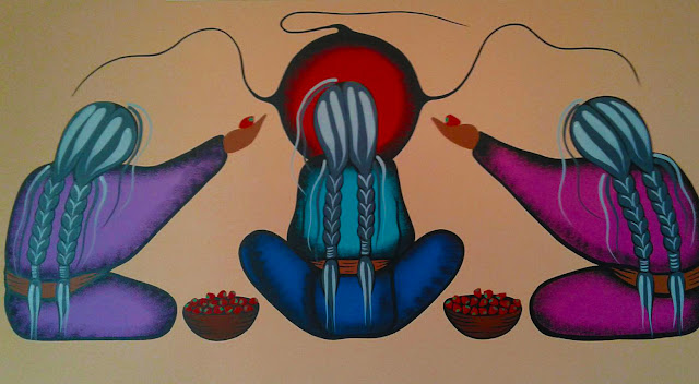 Simone McLeod heart-shaped berry painting