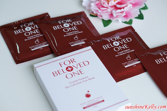For Beloved One, Crystal Radiant Bio-Cellulose Eye Mask, eye mask, dark circles, eye bags, fine lines, beauty,