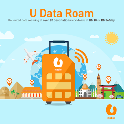 U Mobile Prepaid Postpaid Unlimited Data Roaming