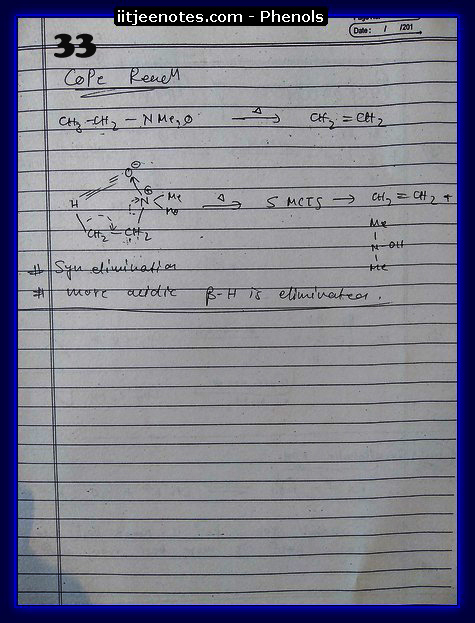 Phenol Notes IITJEE 3