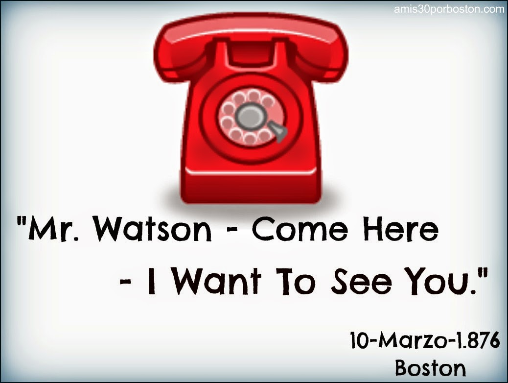 """Mr. Watson — Come here — I want to see you."""