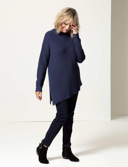marks and spencer textured funnel neck longline jumper