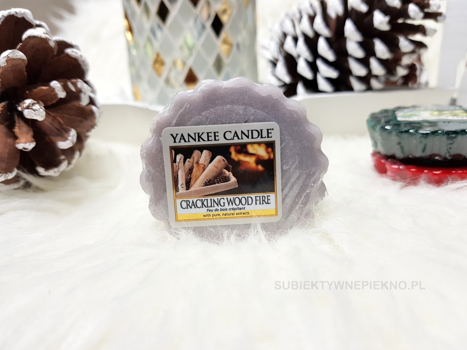 Wosk zapachowy Crackling Wood Fire Yankee Candle. Zimowa kolekcja Q4 2017