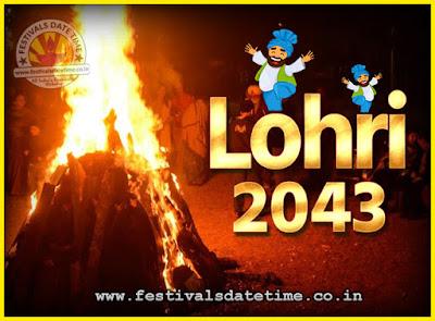 2043 Lohri Festival Date & Time, 2043 Lohri Calendar