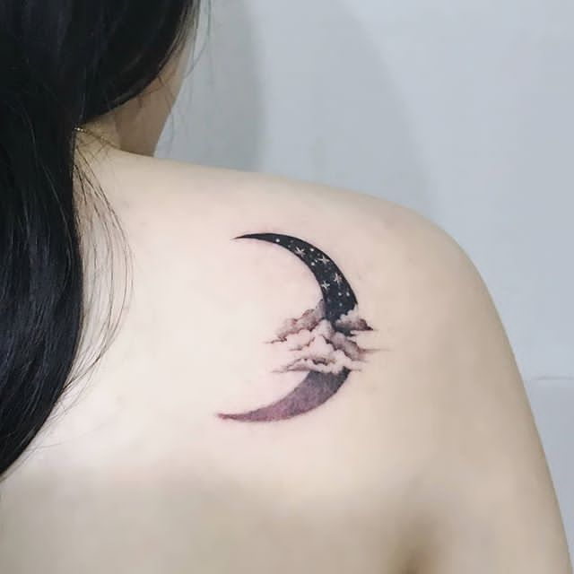 midnight moon tattoos