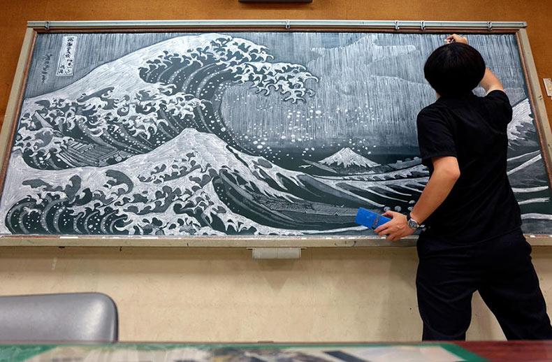 El increíble arte de la tiza por el maestro japonés Hirotaka Hamasaki