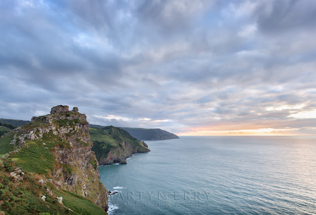 The Devon coastline at Valley of Rocks at sunset by Martyn Ferry Photography