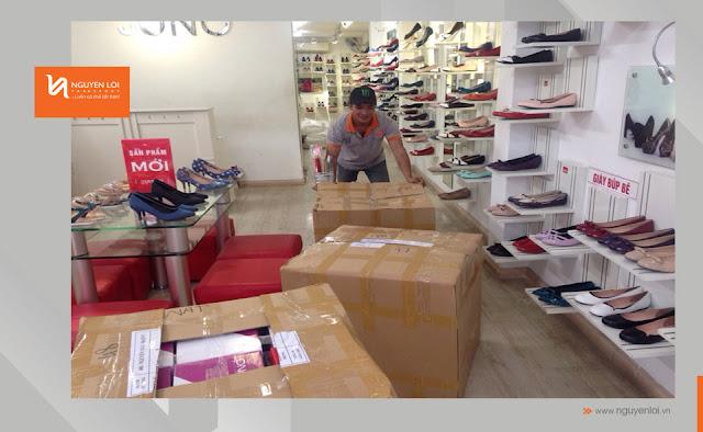 thuê xe tải chở hàng giày dép