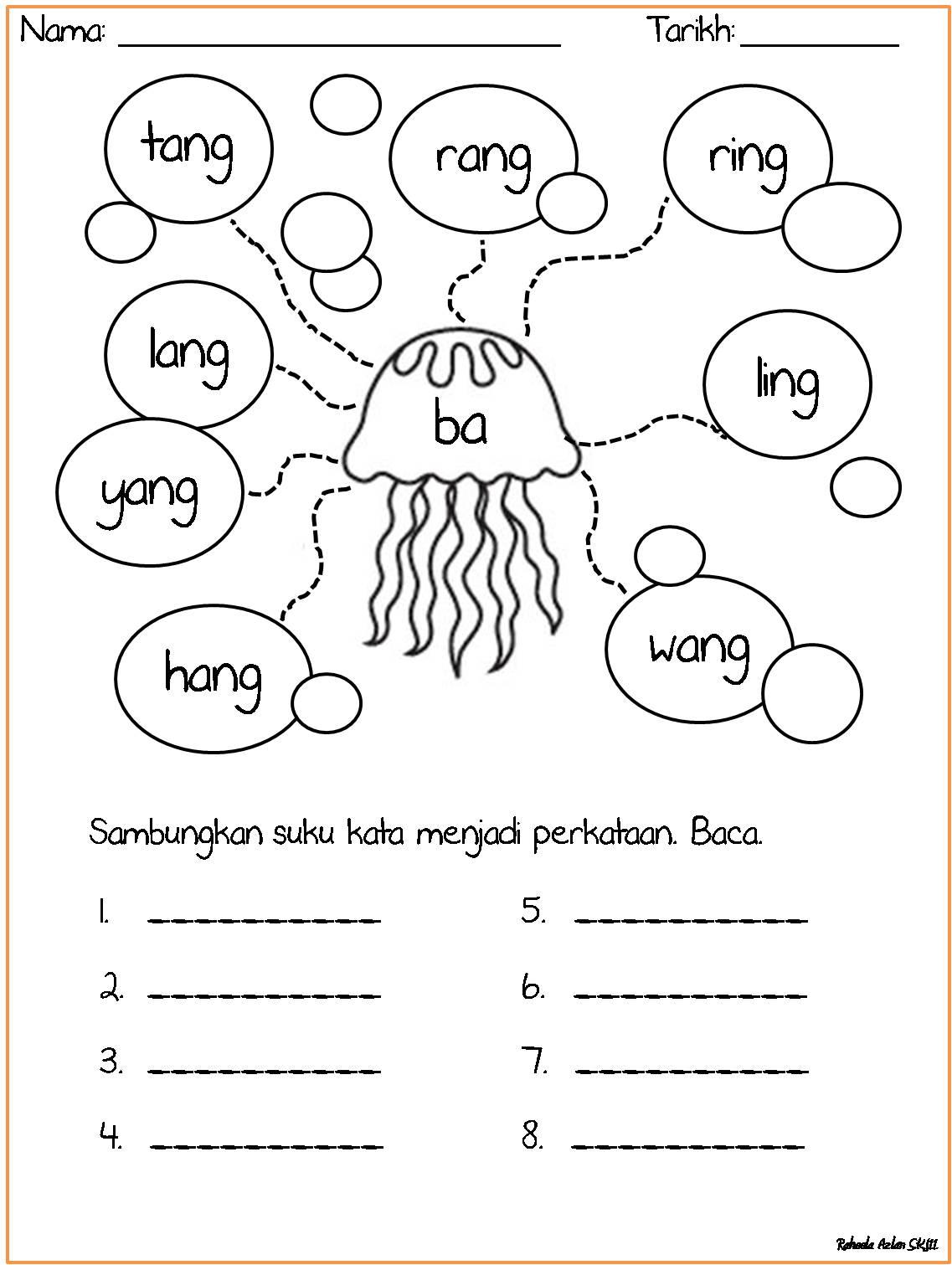 Cikgu Eela Il Preschoolers Pce Lembaran Kv Diftong