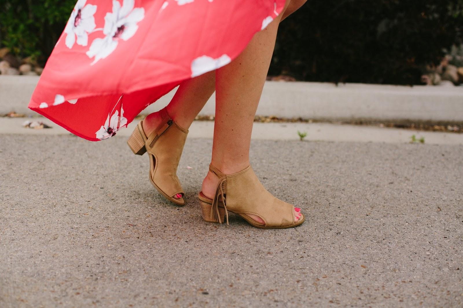 Fringe booties, Mari A Booties, summer booties