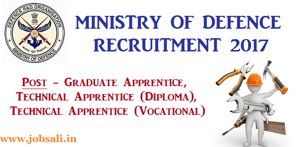 Defence jobs in India, 12th Pass Govt jobs, Ministry of Defence Apprentice jobs