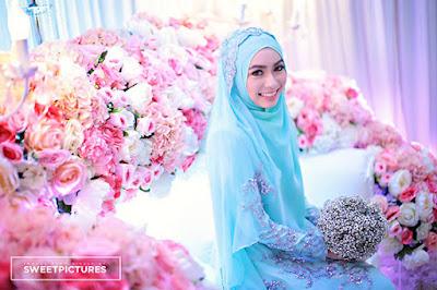 Contoh Model dan Desain Baju Pengantin Muslimah