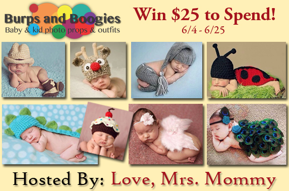 Giveaway! Win $25 to spend at Burps and Boogies (US ONLY)