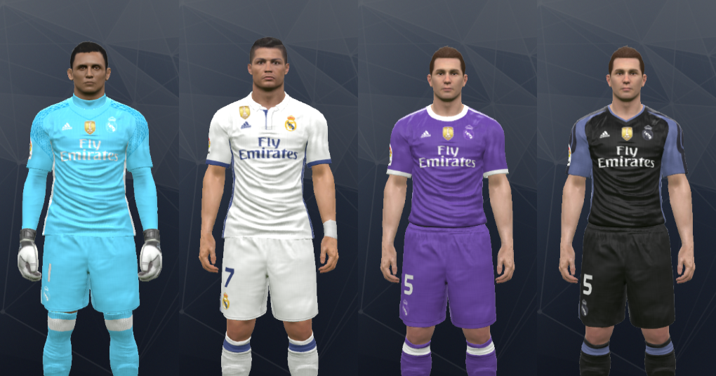 Wepes Sport  (REPOST) Uniforme Real Madrid - Pes 2017 (PC PS3) - Com logo  de Campeão Mundial 1148452d39f6f