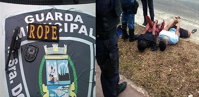 Guarda de Socorro prende dupla portando arma de fogo