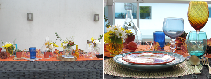 Valentina Vaguada: TIles, table setting, daysies, succulents, colours, granada, tableware
