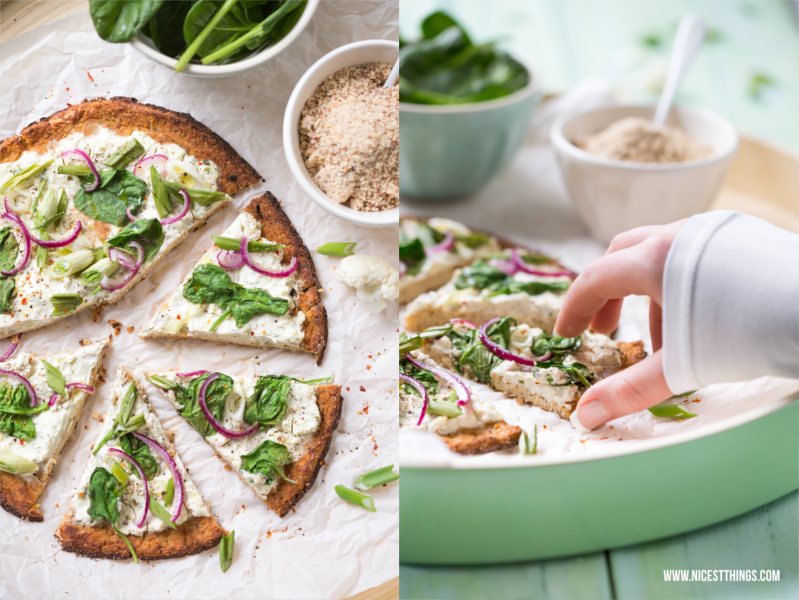 Low Carb Blumenkohlpizza Rezept