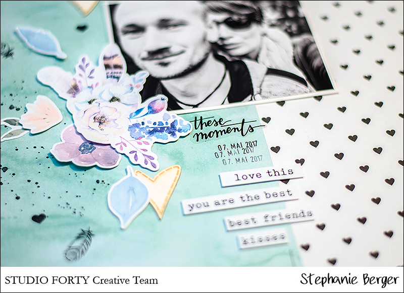 Stephanie Berger - Studio Forty - Scrapbooking Layout - These Moments