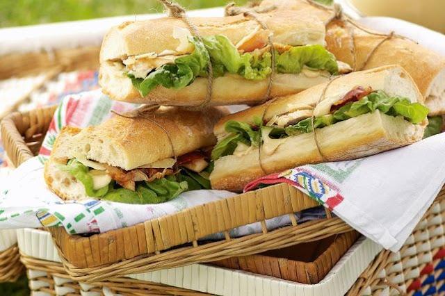 Chicken Caesar baguettes Recipe