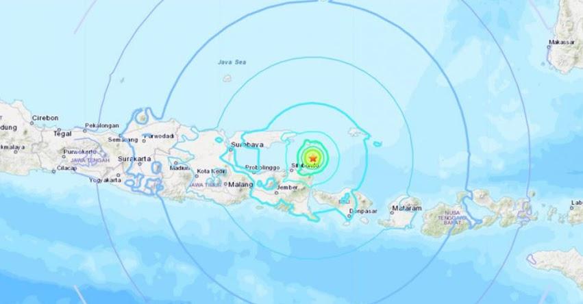 Terremoto en Indonesia de Magnitud 6.0 - Alerta de Tsunami (Hoy Miércoles 10 Octubre 2018) Sismo Temblor EPICENTRO - Java - Sumberanyar - USGS - www.earthquake.usgs.gov