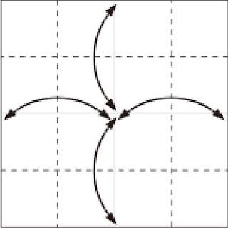 Bước 2: Gấp tạo nếp gấp tại vị trí các nét đứt
