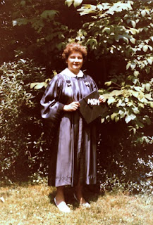 Margaret graduating in 1986