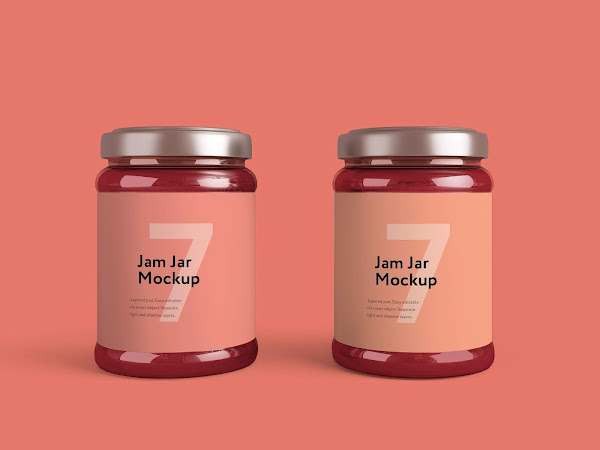 Download Jam Jar Packaging Mockup PSD Free