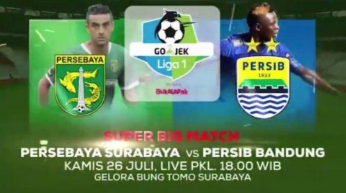 Susunan Pemain Persebaya vs Persib Bandung - Liga 1 Kamis 26 Juli 2018
