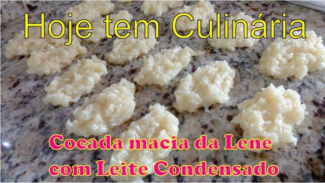 cocada macia da lene com leite condensado