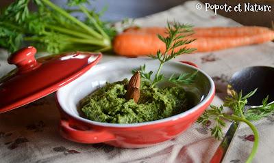 Pesto de fanes de jeunes carottes © Popote et Nature
