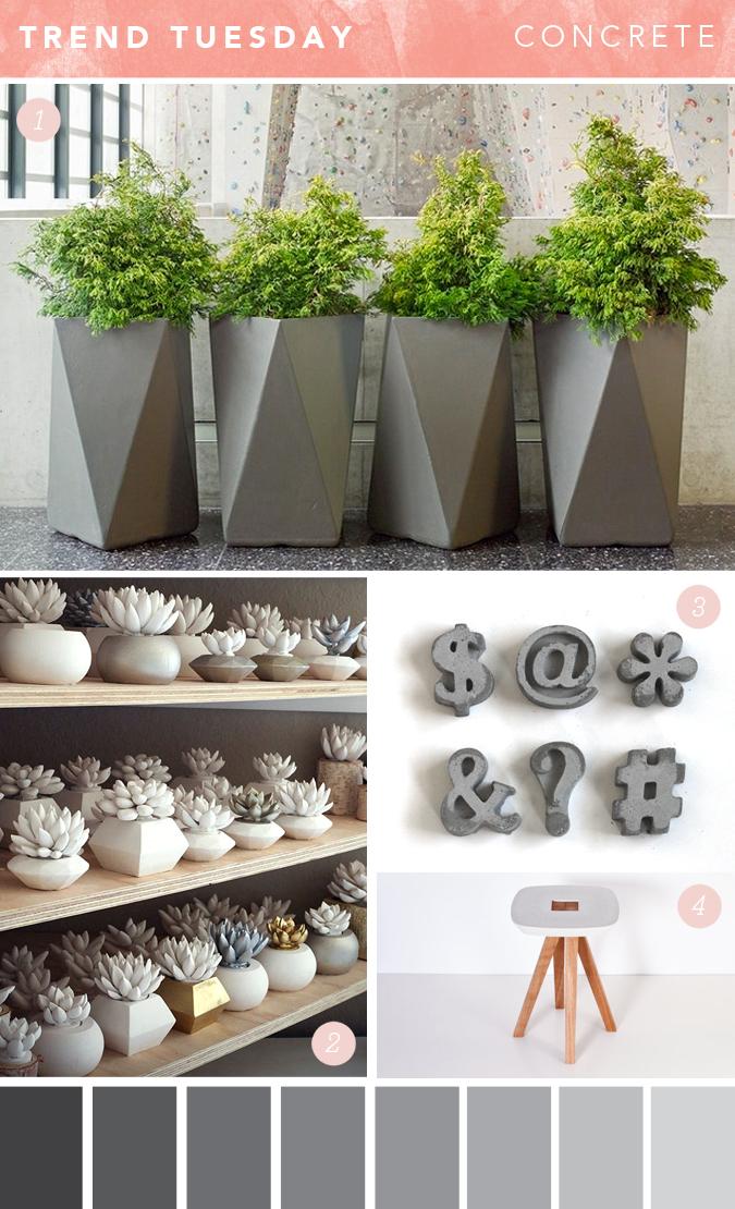 39 tis so sweet trend tuesday concrete - Petit objet de decoration ...