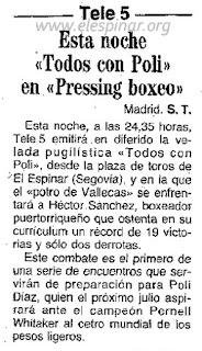 Combate de Poli Díaz en El Espinar 1991