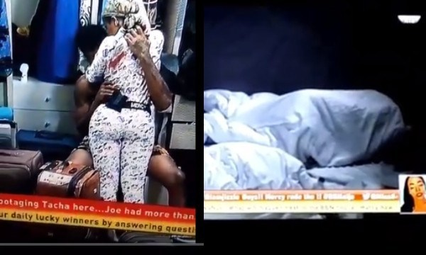[Video] #BBNaija Drama in the house, as Ike caught sucking Mercy's boobs and later had sex with her