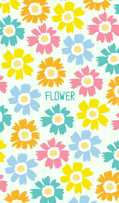 FLOWER -colorful Margaret-