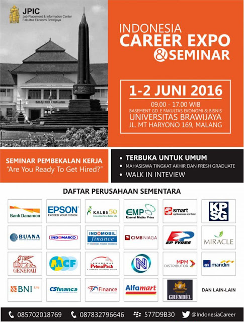 Job Fair di Malang Unibraw Career Expo Unibraw UB