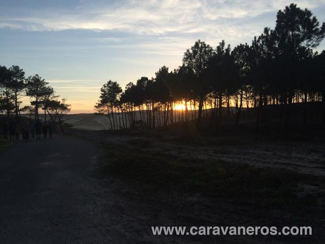 Foto del Atardecer en la duna del Viux Port. | caravaneros.com