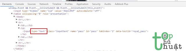 Hiển thị mật khẩu thành ký tự trên Chrome