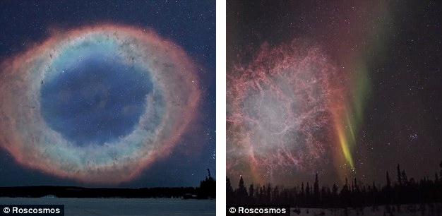 Nebulosa do Anel e Nebulosa do Carangueijo mais proximas da Terra