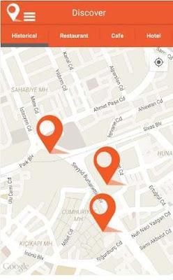 Step to City Traveller App; pianifica i viaggi, fornisce informazioni audio e video in prossimità di luoghi di interesse turistico
