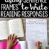 Using Sentence Frames to Write Reading Responses