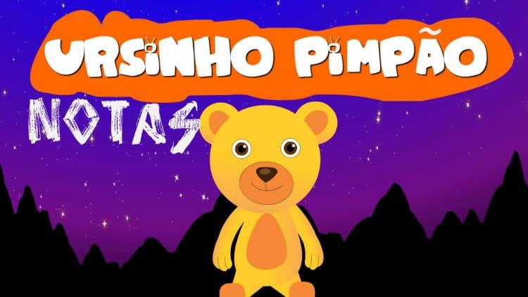 Ursinho Pimpão - Balão Mágico - Cifra melódica