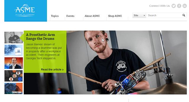 موقع الجمعية الامريكية للهندسة الميكانيكية
