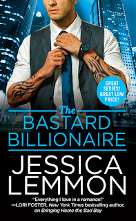 romance novel covers, contemporary romance, The Bastard Billionaire by Jessica Lemmon