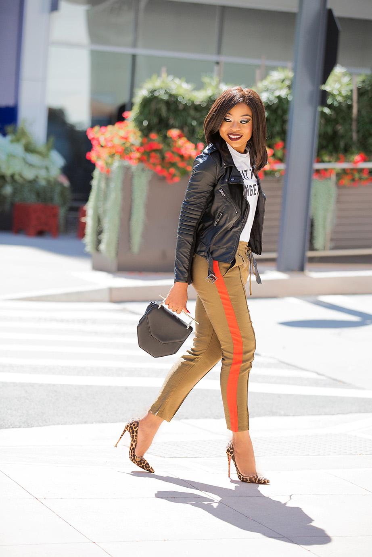 track pants, leopard heels, www.jadore-fashion.com