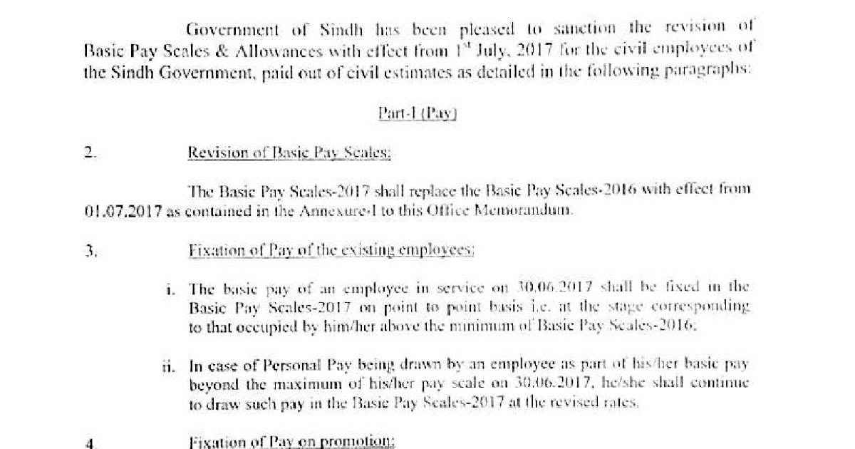 ALL PAKISTAN CLERK\u0027S ASSOCIATION { APCA } REVISION OF PAY SCALES