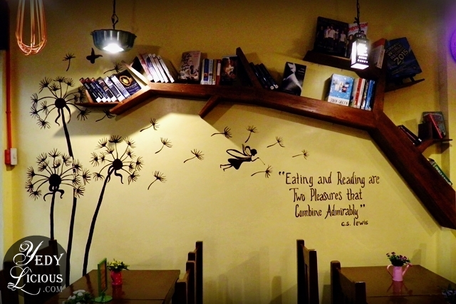Books and Decors at The Little House of Cheesecake Antipolo