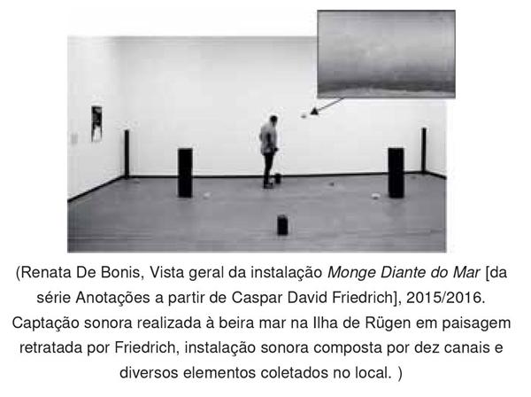 Renata De Bonis, Vista geral da instalação Monge Diante do Mar da série Anotações a partir de Caspar David Friedrich, 2015-2016